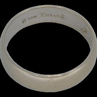 Vintage 14k White Gold Band
