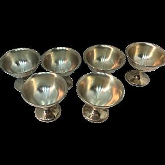 6 Sterling  Silver Sherberts