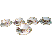 Five Schuman Dresden Cup and Saucer Sets
