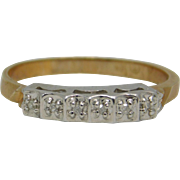 10k Yellow Gold Band With Diamonds