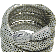 Whiting And Davis Silver Snake Cuff Bracelet