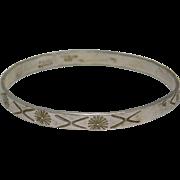 Sterling Silver Taxco  Bangle Bracelet