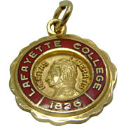 Lafayette College Charm 18K Yellow Gold