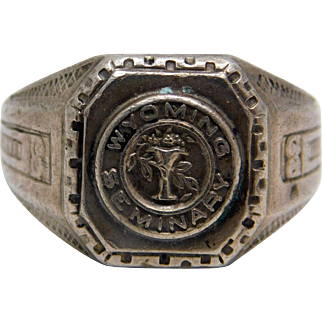 Wyoming Seminary Preparatory  School Sterling Class Ring