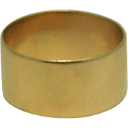 14K Yellow  Wide Band