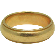 14K Yellow Gold Band