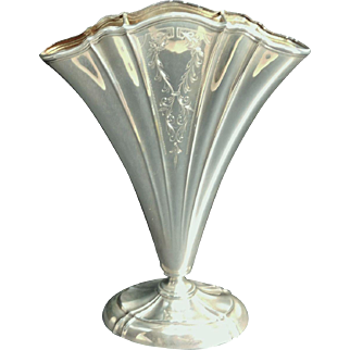 Wallace Art Deco Style  Sterling Fan Vase