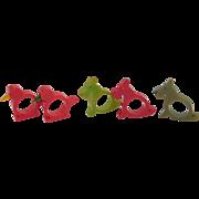 5 Vintage Bakelite Napkin Rings