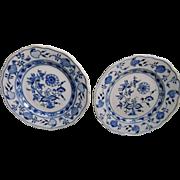 Vintage Meissen Blue Onion Plates