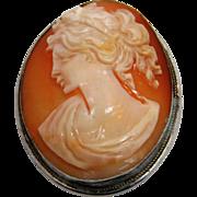 Shell Cameo Pendant/Brooch 800 Silver
