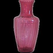 Vintage Pilgrim Cranberry Glass  Delphi  Extra Large  Floor Vase