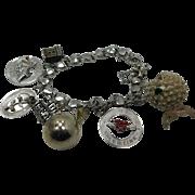 Sterling Silver Vintage Charm Bracelet