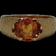 10K yellow Gold Men's Orange Sapphire Ring