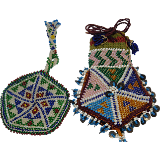 Two Southern Native American Bead Bags