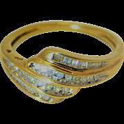 10k Gold Layered Diamond ring