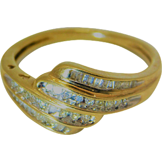 10k Gold Layered Diamond ring