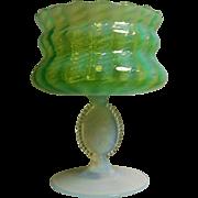 Veneation Murano  Glass Cameo Compote