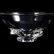 Steuben Crystal Spiral Bowl