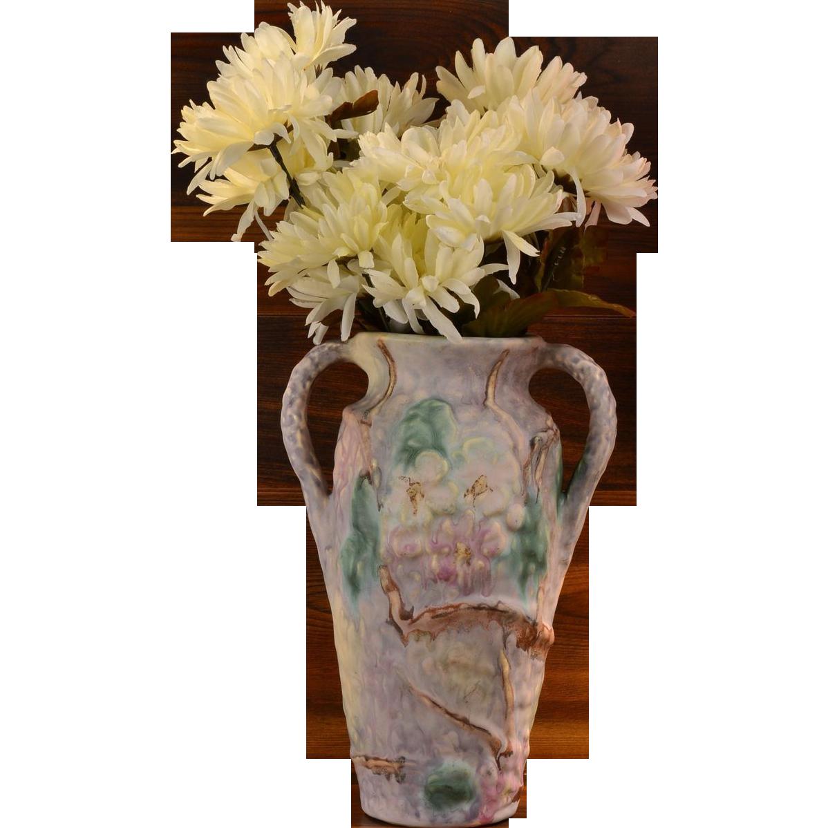 Weller pottery 1920s silvertone dogwood vase kings fortune weller pottery 1920s silvertone dogwood vase kings fortune ruby lane reviewsmspy