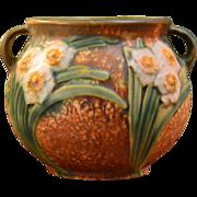 Roseville Pottery 1931 Jonquil Handled Vase #538-4