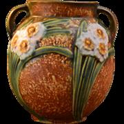 Roseville Pottery 1931 Jonquil Handled Vase #540-6