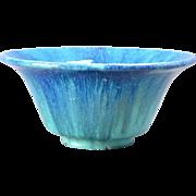 Muncie Pottery 1930's Blue drip over Green Bowl Shape 162-8
