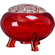 Viking Glass Flowerlite Flower Frog, 1950 - 70's Ruby Red #1007
