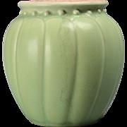 Rookwood Pottery Vase, Matt Green Bulbous Vase (Shape #2812), 1930