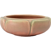 Rookwood Pottery Bowl, Matt Pink Petal Low Bowl (Shape #2134), 1917