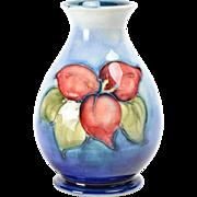 Moorcroft Pottery Blue Mini Vase with Flowers