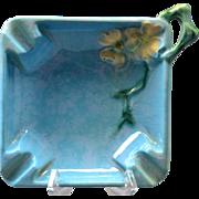 Roseville Pottery Ashtray Azure Blue Wincraft (Shape 240-T) , 1948