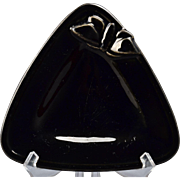 Rookwood Pottery Ashtray Black Moth Triangle Tray (Shape 2890),1935