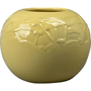 Rookwood Pottery Bowl, Yellow Leaf and Berries Round Vase (Shape #6545), 1946