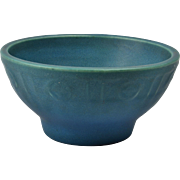 Rookwood Pottery Bowl, Blue Green Arts and Crafts Footed Bowl (Shape #1793), 1915