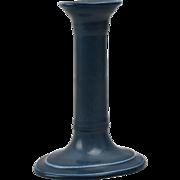 Rookwood Pottery Candle Holder, Matt Blue Candle Holder (Shape #508), 1920
