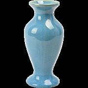 Muncie Pottery 1930's Gloss Blue Flared Vase (Shape 100-6) I-3
