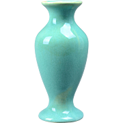 Muncie Pottery 1930's Gloss Green Flared Vase (Shape 100-6) #