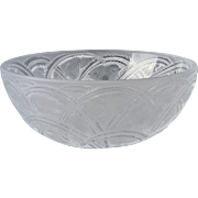 Lalique Crystal Bowl, Pinsons Finches Bowl