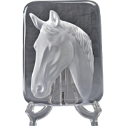 Daum Crystal Paperweight, Horse Paperweight