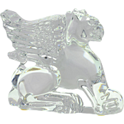 Baccarat Crystal Figure, Griffin Griffon Gryphon Paperweight