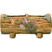 Weller Pottery Planter, Woodcraft Log Planter, 1920-33