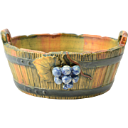 Weller Pottery Bowl, Woodcraft Grapes Bowl, 1920-33