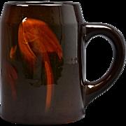 Weller Pottery Mug, 1896-1924 Louwelsa Mushroom Stein Mug