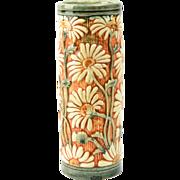 Weller Pottery Vase, Late Teens Selma Daisy Cylinder Vase