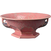 Roseville Pottery Bowl, 1920's Pink Tuscany Bowl and Flower Frog