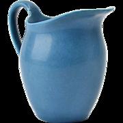 Rookwood Pottery Creamer, 1920 Blue Creamer #547