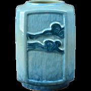 Roseville Pottery Vase, 1948 Azure Blue Wincraft Vase #274-7