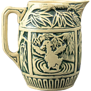 Weller Pottery Pitcher, 1920 Zona Pitcher with Dancing Splashing Duck