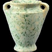 Burley Winter Pottery Vase, 1920's Green White Vellum Vase #45