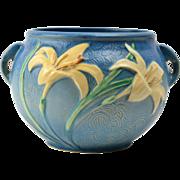 Roseville Pottery Planter, 1946 Zephyr Lily Bermuda Blue Planter #671-6